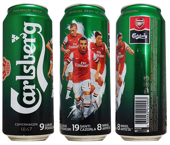 Carslberg seguirá siendo la cerveza del Arsenal por 3 años más